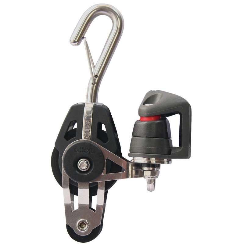 Photo of 40mm Swivel Fiddle Block with Cleat & Hook 2-6mm