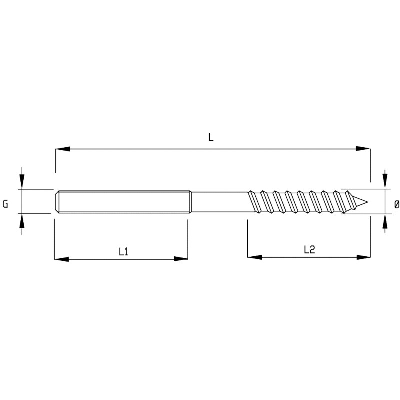 Photo of WDS Dual Thread Screw