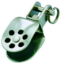 Photo of 25mm Stainless Stanchion Block with Swivel Shackle