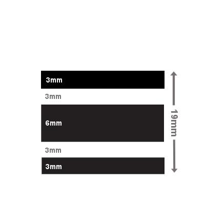 Photo of Colour Stripe Tape 19mm Wide
