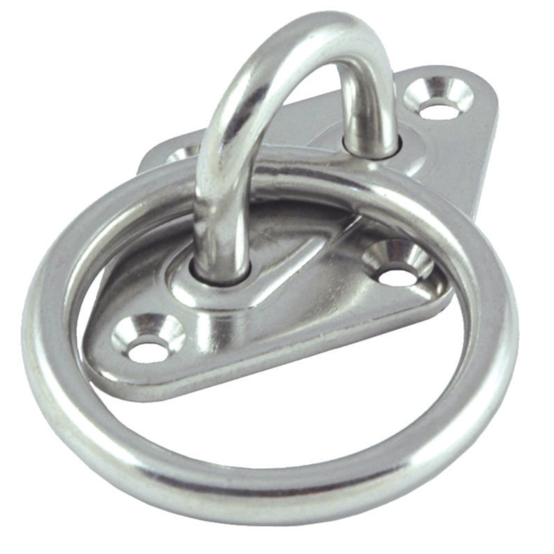 Photo of Stainless Steel Diamond Deck Plate with Ring