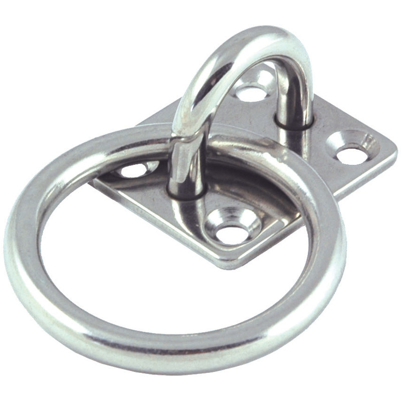 Photo of Stainless Steel Square Plate with Ring