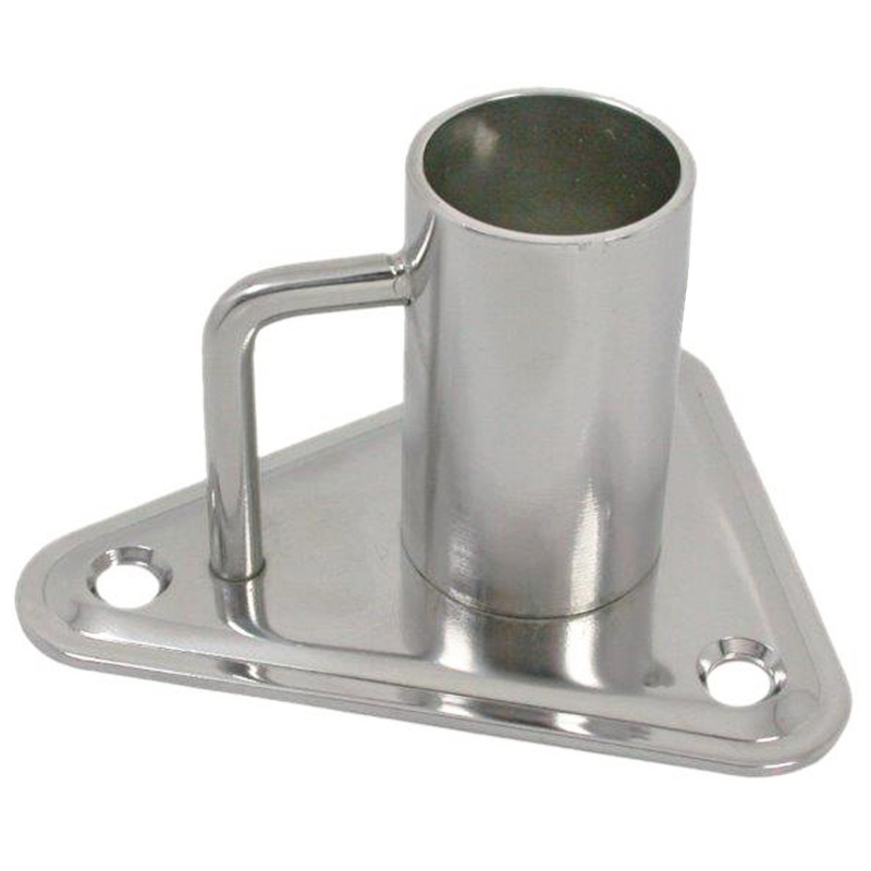 Photo of Stnd Stainless Steel Stanchion Base – Triangle 0º