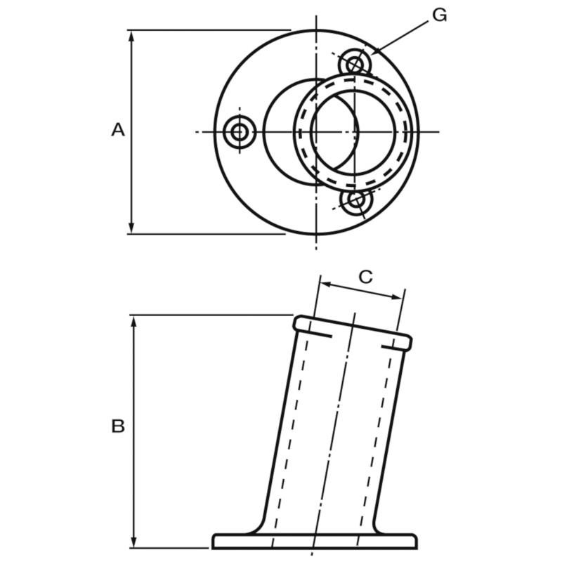 Photo of Aluminium Flagstaff Socket